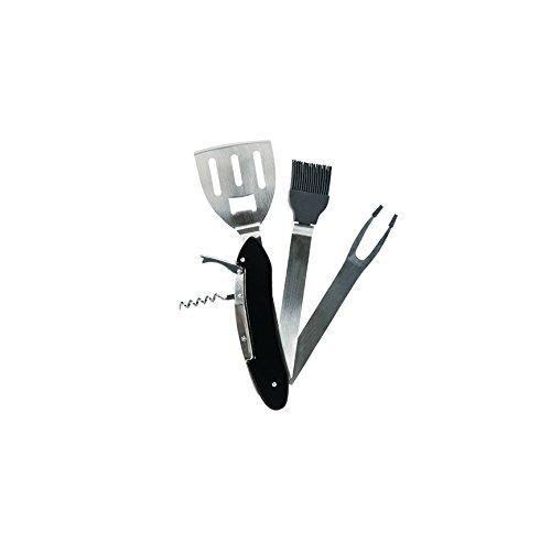 Thumbs Up! BBQ Tool Kit Multi attrezzo da Barbecue 5-in-1, Acciaio Inossidabile, Nero, 29.7x8.8x2.1 cm