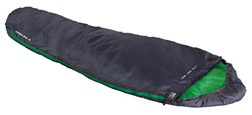 High Peak Lite Pak 800 Sleepingbag Unisex-Adult, Anthracite/Green, 210x75/50 cm