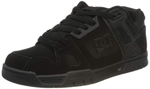 DC Shoes Mens Stag Skate Shoe, Black/Black, 44.5 EU
