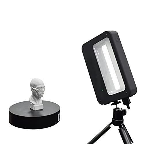 Escáner multifunción 3D de mano a todo color, escáner 3D, escáner de modelado 3D, USB, compatible con salida STL/PLY/OBJ, precisión de 0,3 mm, para ropa, escultura, escuela y medicina.