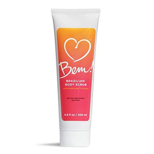 Bem! Brazilian Body Scrub Natural Exfoliator for Smooth Skin with Coconut and Sugar Cane 6.9 oz