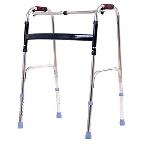 SISHUINIANHUA Tage Verstellbare klappbare Gehhilfe, Adipositas-Gehhilfe für Erwachsene für Senioren Mobilitätshilfe für Behinderte Breite Gehhilfe max