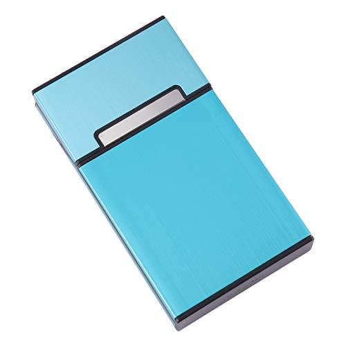 YANBEN Caja de cigarrillos, caja de cigarrillos para mujer, chapoteo anti-colisión a prueba de aluminio, caja de cigarrillo de humo ultra fino resistente a rasguños, para el paquete completo de cigarr