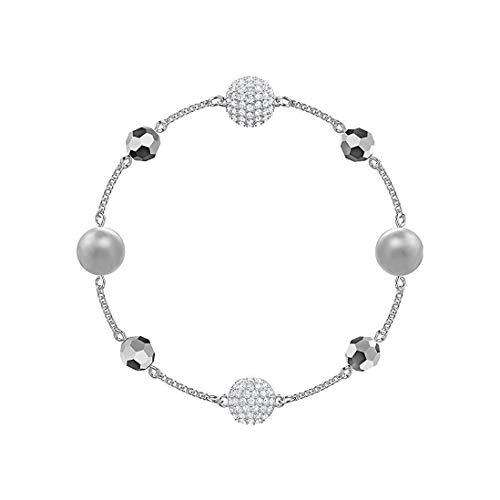 Swarovski Damen-Strangarmbänder Edelstahl Kristall 5451039