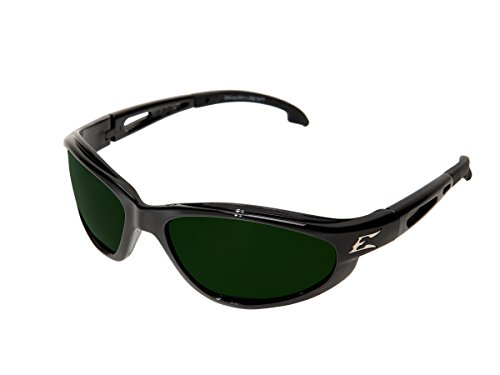 Edge Eyewear SW11-IR5 Dakura Safety Glasses, Black with Light Welding IR 5.0 Lens