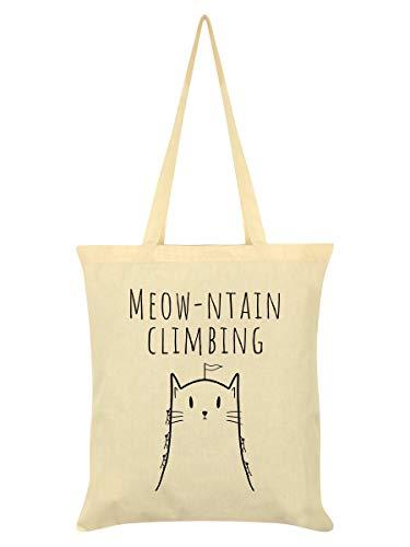 Borsa Tote Meow-tain Climbing 38 x 42 cm in crema