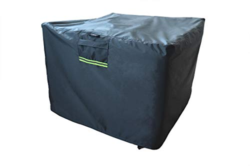 """CHENHAO Fire Pit Cover Square 32 inch Waterproof 600D Heavy Duty Outdoor Patio Fire Table Cover Grey (Square - 32""""L×32""""W ×24""""H)"""