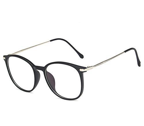 Huayuan Gafas anti luz azul, gafas para juegos de ordenador, gafas UV400, gafas de lectura con montura TR90 resistentes a la radiación, bloqueo UV, gafas para mujer-_Negro mate