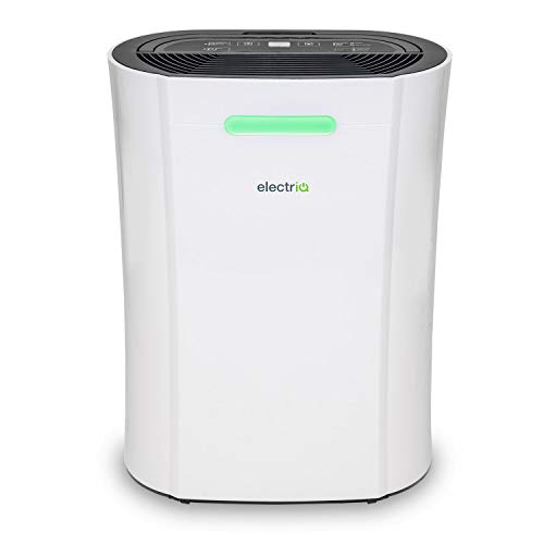 electriQ 12L Portable dehumidifier Great for 3 Bed Homes. Combats Condensation, Damp and Mould.