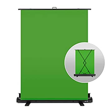 Elgato Green Screen - Collapsible Chroma Key Panel for Background Removal with Auto-locking Frame Wrinkle-Resistant Chroma-Green Fabric Aluminum Hard Case Ultra-Quick Setup and Breakdown