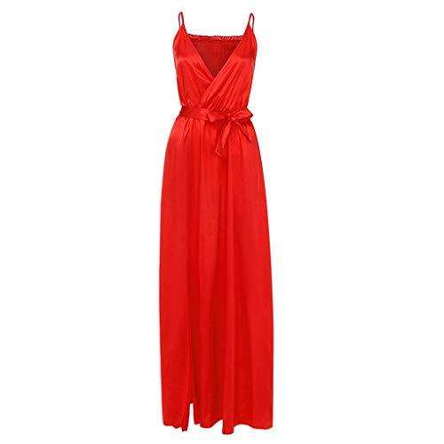 Damen Sling Kleid Sexy Halfter Split Gabel Langarm Kleid Sexy Reine Hohe Taille Spleißen Abendkleid Sonojie