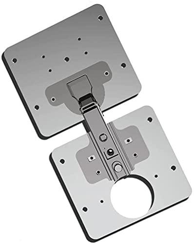 Hinge Repair Plate-Kitchen Cupboard Door Hinge Repair Kit,Cabinet Hinge Repair Brackets Includes Plates and Fixing Screws,Stainless Steel Plate Repair Accessory (1 Set)