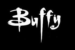 Legacy Innovations Buffy White Decal Vinyl Sticker Cars Trucks Vans Walls Laptop  White  5.5 x 3.5 in LLI570
