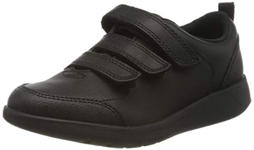 Clarks Scape Sky K, Zapatillas Niños, Negro (Black Leather Black Leather), 28 EU