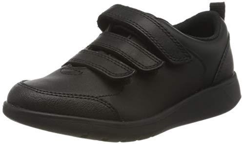 Clarks Scape Sky K, Zapatillas Niños, Negro (Black Leather Black Leather), 29 EU