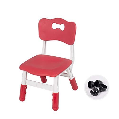 ZHAOHUI-Ensembles Table et Chaise pour Enfants Hauteur Réglable Apprendre Activité Jardin d'enfants Ménage Table d'enfant Chaises, 7 Couleurs (Color : Red)