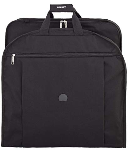 DELSEY Paris Luggage Delsey Helium Lightweight 52' Dress Garment Cover, Black