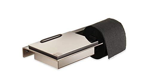 Feuchttuchbox mit Rollenhalter Edelstahl hochglänzend - Made in Germany