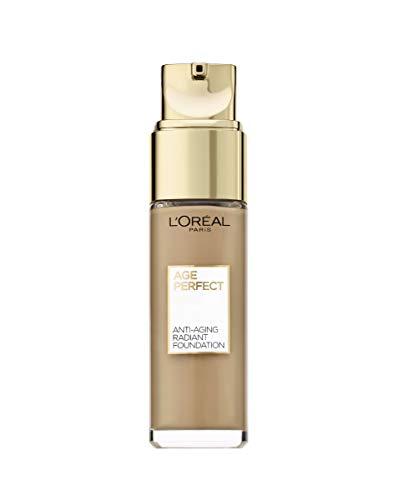 L'Oréal Paris Age Perfect Feuchtigkeitsspendendes Make-up in Nr. 310 miel rose, für reife Haut und einen strahlenden Teint, mit LSF 17, 30 ml