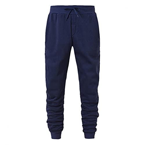 Esque Sudadera para Hombre/Pantalones Hombre con Cordones/Suelto Casual Deportes SóLido Capucha Color Bolsillo Chaqueta SuéTer/Bolsillo/Invierno(1(P) Azul Marino,3XL)