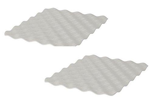 2 IKEA GRUNDVATTNET stijlvolle wastafel mat in grijs 26x32 cm gemakkelijk verzamelen voedsel afval