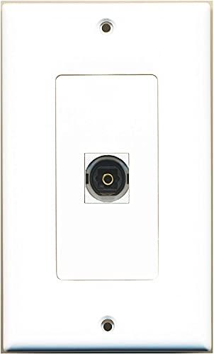 RiteAV - 1 Toslink Digital Audio Port Wall Plate Decorative White