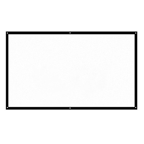 Check Out This H70 70'' Portable Projector Screen HD 16:9 White Dacron 70 Inch Diagonal Projection S...