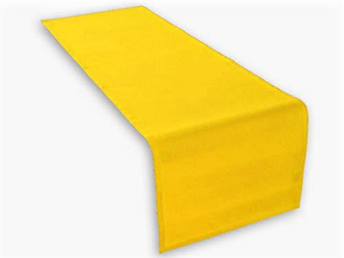 Hochwertiger Tischläufer aus Baumwolle. Tischtuch, Tischdecke. Große Auswahl an Farben. (Gelb)