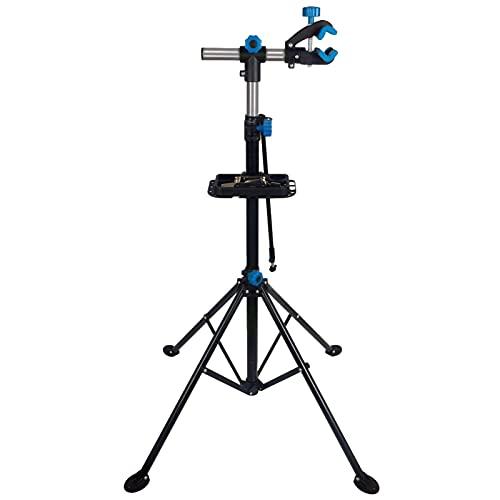 Kbsin212 Soporte para reparación de bicicletas, soporte para reparación de bicicletas, plegable, soporte de montaje con cuatro patas, giratorio, hasta 360° hasta 50 kg, altura ajustable