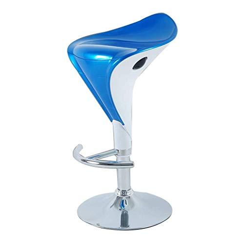 AINIYF Barhocker, Schalensitz, verstellbares Pub Barhocker Barhocker Innen/Außen W/Gas Lift, Chromstahl Fußrasten / 26.8x34.6inches (Color : Blue, Size : 88cm)