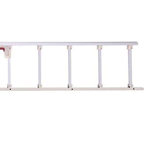 YYFANG Barandilla Cama, Plegable Material De Acero Inoxidable Protección Y Anti-caída Fácil Instalación, Adecuado para Ancianos, Mujeres Embarazadas Y Niños. (Color : Silver, Size : 5 Gears-A)
