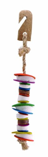 Living World Nature 's Treasure Coco Shell Tower Vogels, Small and Medium, multi