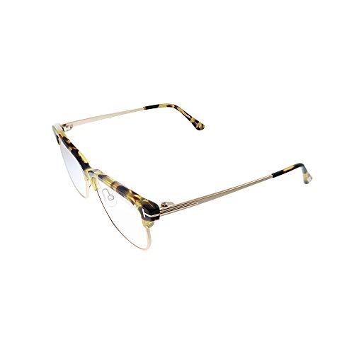 Tom Ford Gafas de sol FT 5546 -B 056 de tortuga brillante, color oro rosa/azul