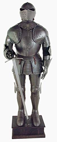 Black Knight Suit of Armor Full Size Aged Antiqued Finish Armor