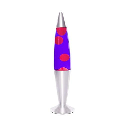 Lámpara de lava 42cm / magma Lámpara de lava / violeta naranja / Lollipop / E14 25W / con interruptor de cable / idea para regalo de Navidad / incluyendo bombilla / retro lámpara, con conmutador de cable