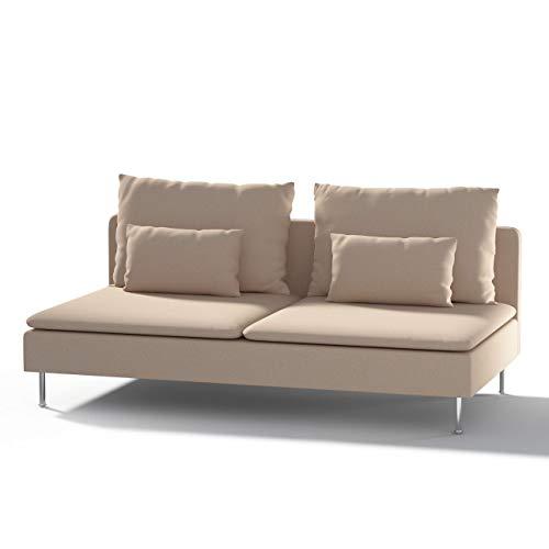 Dekoria Söderhamn Bezug für Sitzelement 3 Husse passend für IKEA Modell Söderhamm beige