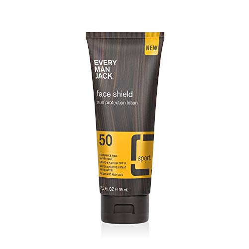Every Man Jack SPF 50 Face Shield, Sun Protection Lotion, 3.2-ounce