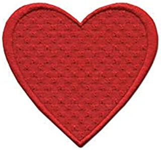 Iron On Patches - Red Heart Patch Iron On Patch Embroidered Applique A-179