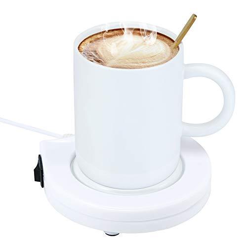 HITECHLIFE Calentador de tazas de café, calentador de tazas eléctrico USB para café, té, leche, bebidas,calentador de bebidas para tazas, calentador de tazas de escritorio,calentador de café eléctrico