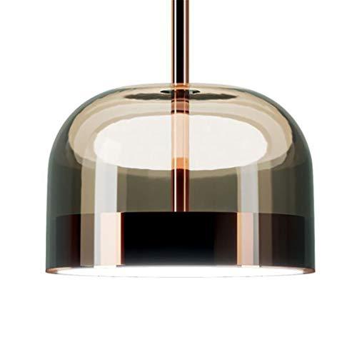 F&PERFTLMP Modern - Lámpara colgante LED para salón o casa decorativa, círculo de bola de cristal para interior, 220 V, Cold White Black S, D238 x H442 mm