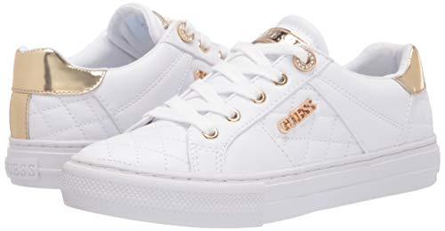 GUESS Women's LOVEN Sneaker, White, 8.5