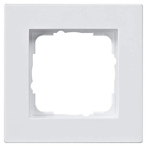 'Gira 0211225Marcos para interruptores E2de 1Plano, Color Blanco Mate