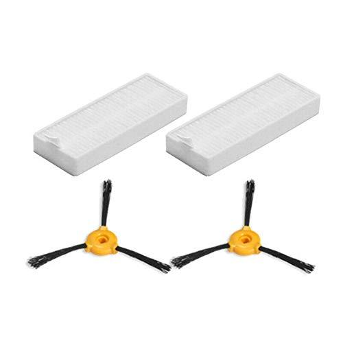 SDFIOSDOI Piezas de aspiradora Pinceles Laterales Filtros Ajustar para Conga Slim 890 Piezas de Herramientas de Accesorios de Accesorios de aspiradora (Color : As Shown)
