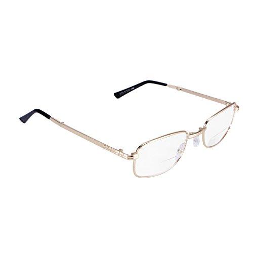ROSENICE Lesebrille +2.00D Faltbare Lesebrille Anti-Ermüdung presbyopische Gläser Frauen Männer Lesebrillen