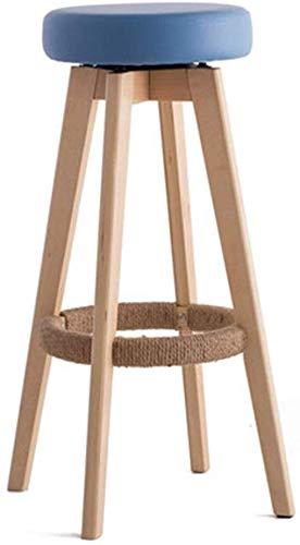 CHAIR Chaise de bar, chaise de loisirs minimaliste nordique simple style miniliste tabouret haut en bois massif pour bar restaurant café boutique de desserts chaise sans dossier salon cuisine décorat