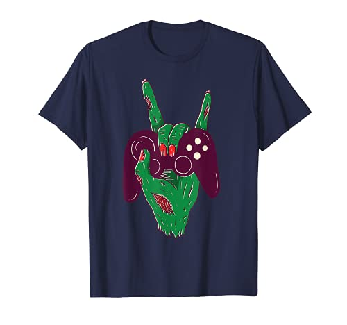 Divertido mando de juego Halloween Zombie Hand Boys Camiseta