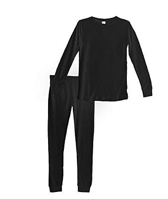 Habit Rags Best Organic Bamboo Cotton Long John Thermal Pajama Set Big Boys, Girls, Toddlers Kids Size 2 to 16