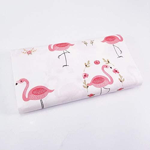 Amazon.com: BeylaNH - 100% Pure Cotton Twill Fabric Geometric Patterns Flamingo Printing Patchwork Quilting Cotton Material Cloth Crafts for Bedding - telas para costura por yardas - Cotton Fabric by The Yard