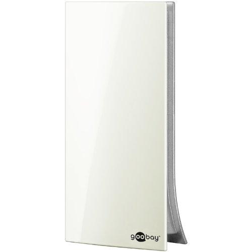 Goobay Dia 220 PS Mini Aktive DVB-T Zimmerantenne (Netzteil, 20 dB) für VHF/UHF-Empfangsbereich weiß