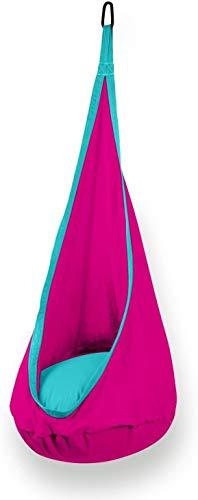Enfants Pod Swing Chaise Enfant Hamac Chaise Coton Doux Pliant Suspendu Hamac Siège pour Intérieur et Extérieur (Color : Red)